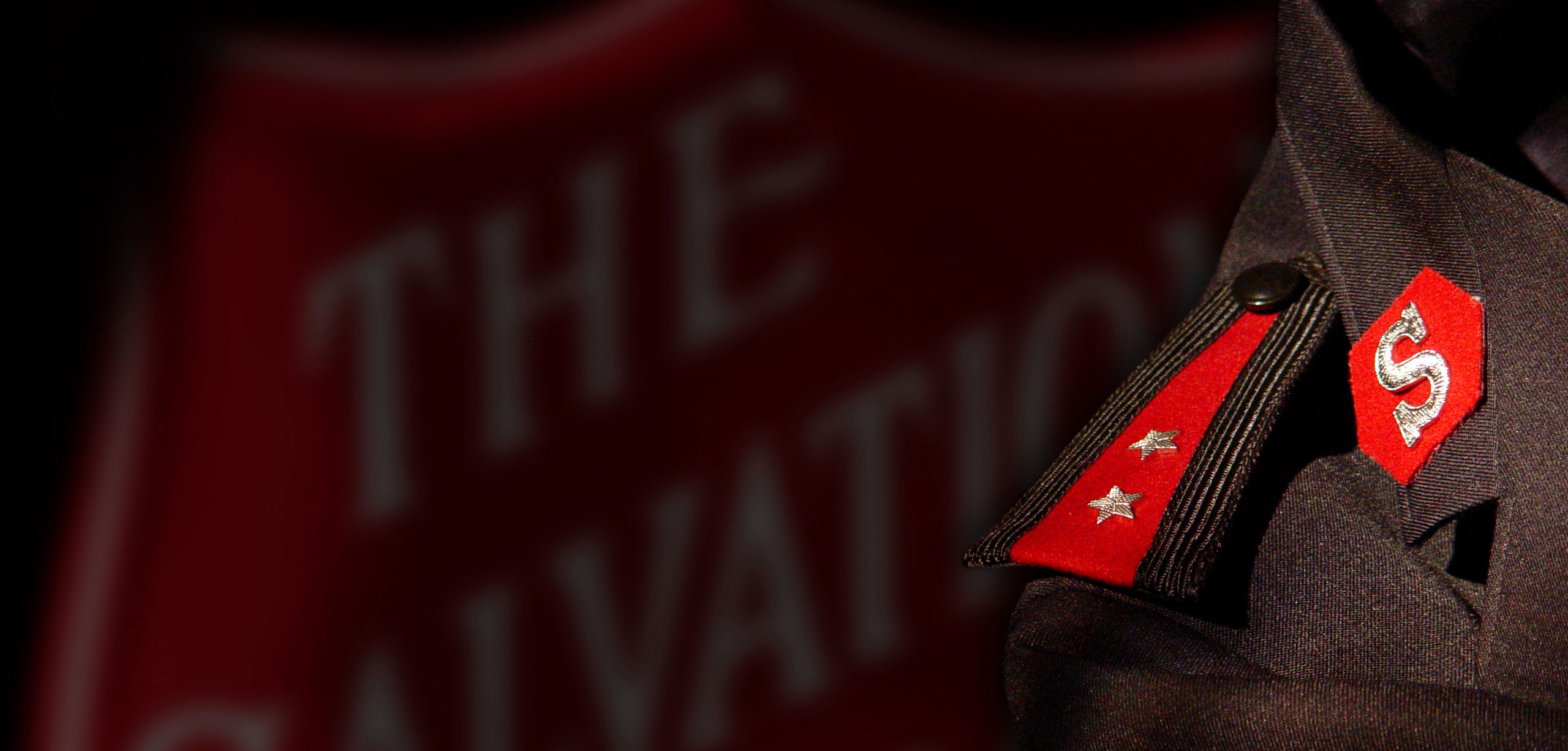 The salvation army soldier stars on dress coat