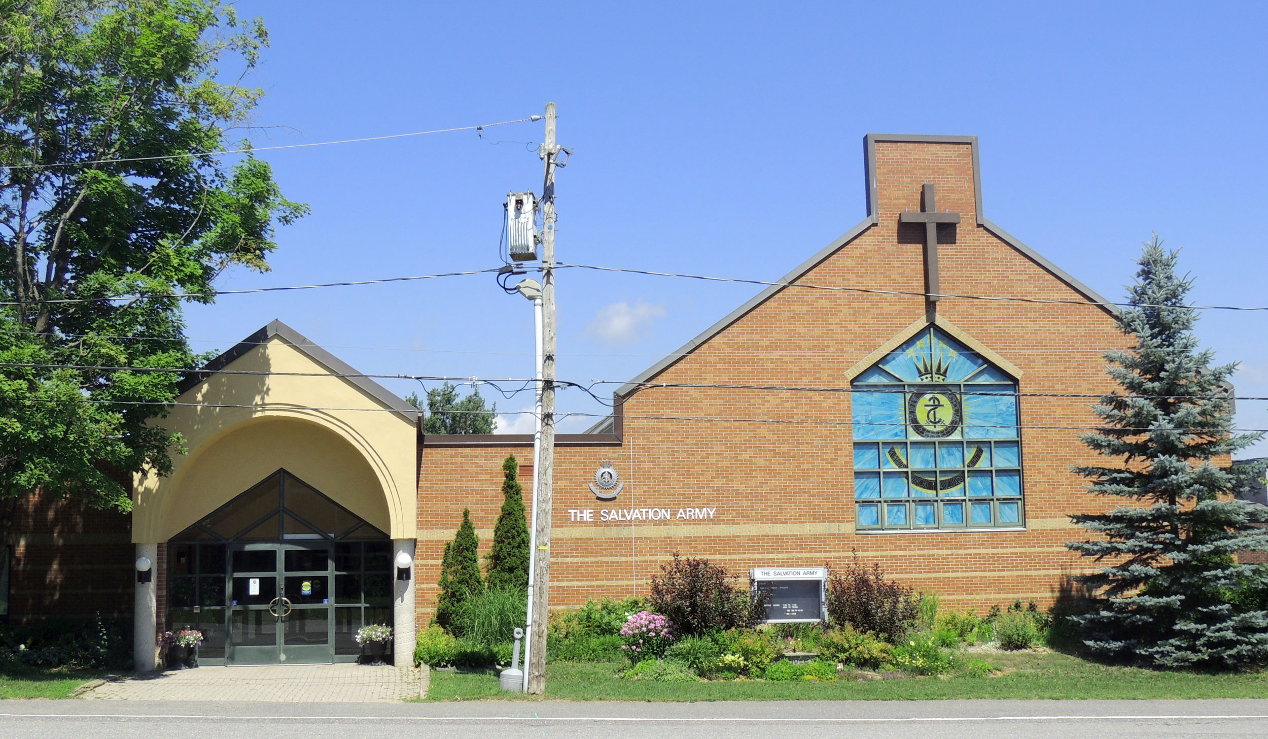 The exterior of the Salvation Army Church in Huntsville